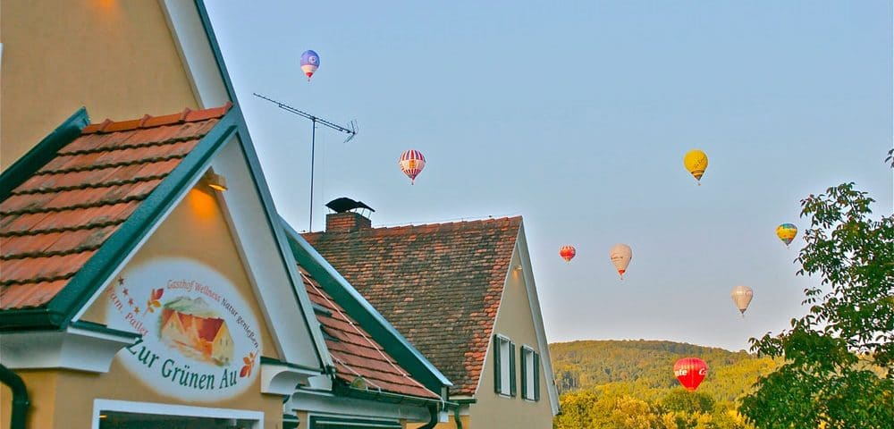 Ballon fahren in der Oststeiermakr