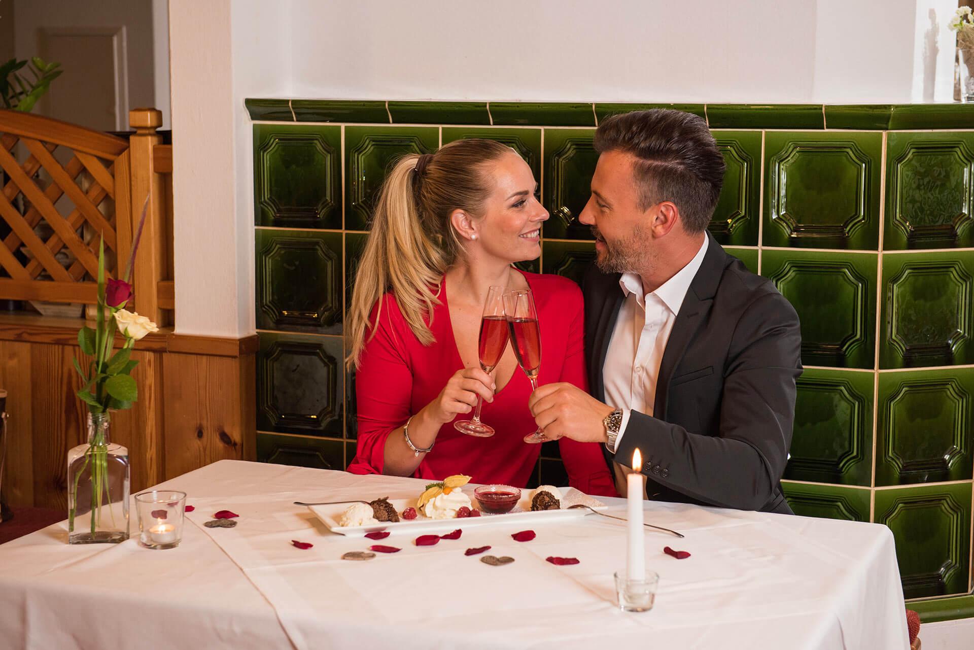 Romantik-Urlaub ohne Kinder: Wertvolle Zeit zu zweit erleben Sie in der Grünen Au.