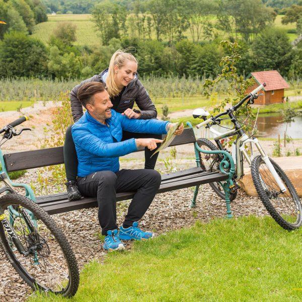 Rad fahren mit den Hauseigenen E-Bikes