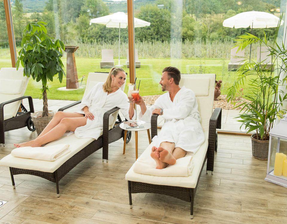 Entspannung in der Grünen au, dem Wellnesshotel in der Oststeiermark
