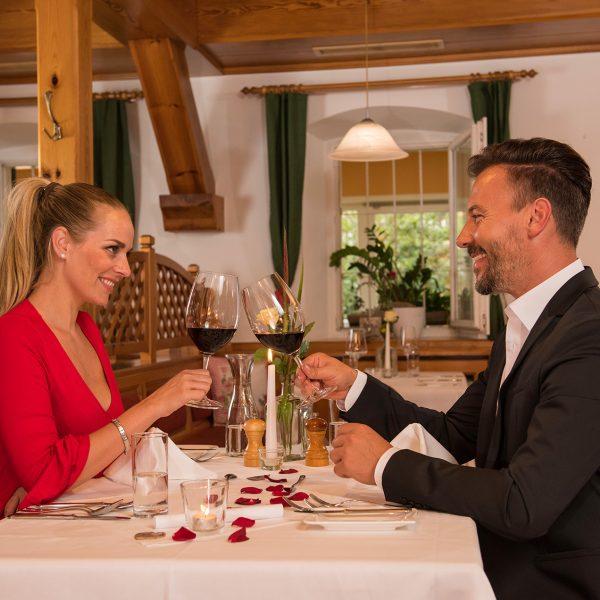 romantisches Candle light Dinner